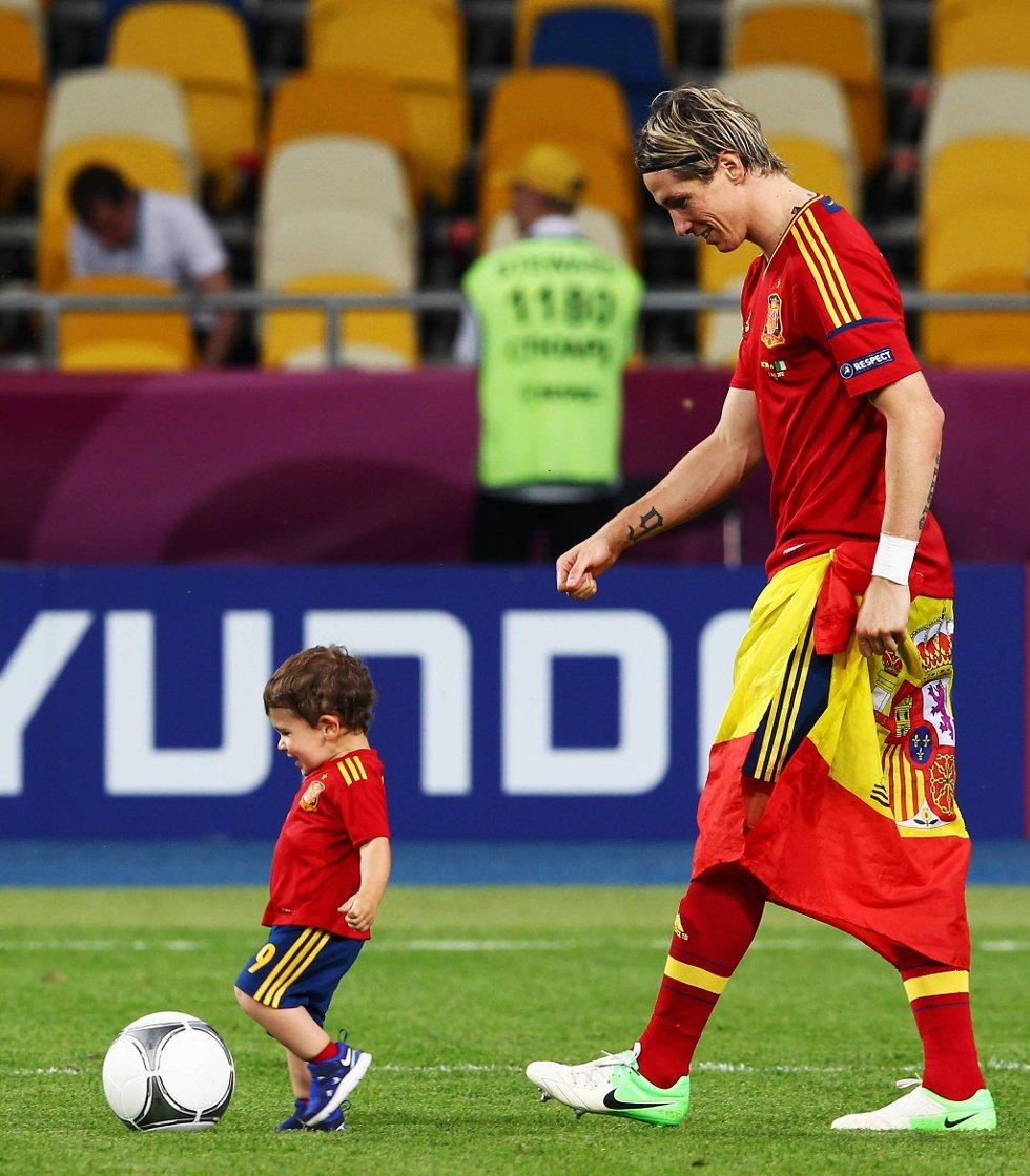 Kanskje ser vi en framtidig spansk gullvinner foran far Fernando. (Foto: Alex Grimm, Getty/All Over/ANB)