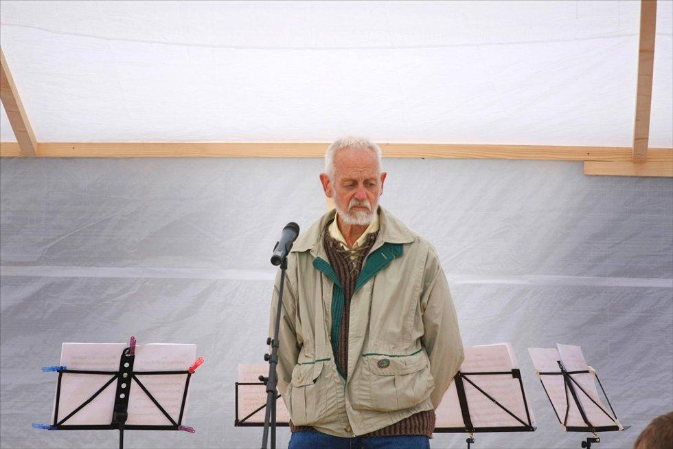STERKT:      Jan Angard fortalte om tiden da forsvaret overtok Snøheim mens faren var bestyrer.