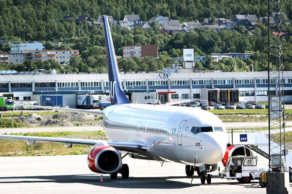 Det var fare for storbrann på Tromsø lufthavn.