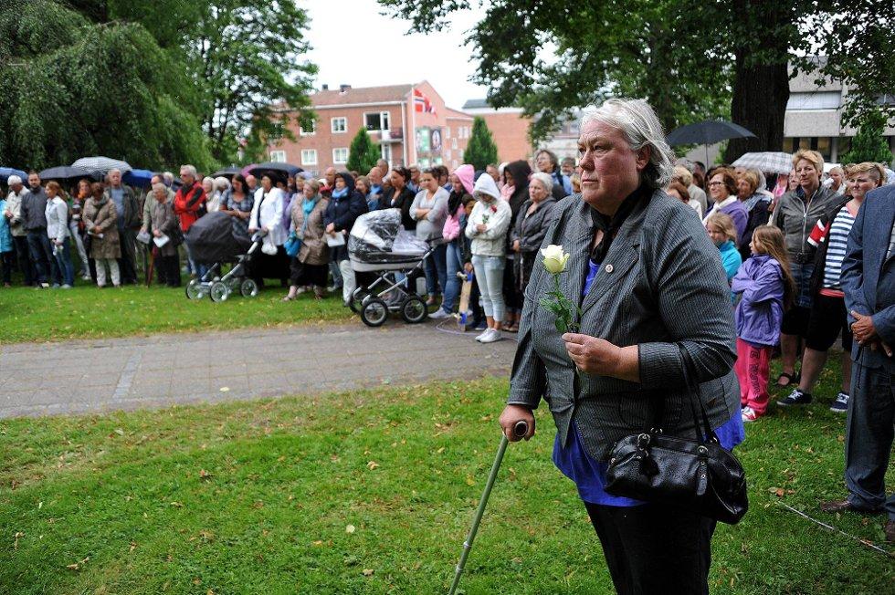 Minnemarkering etter 22 juli.Mange møtte fram *** Local Caption *** Foto: Jarl M (Foto: )