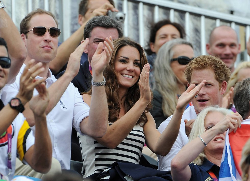 Ikke mye gulljubel for Storbritannias kongelige så langt, men både prins William, prins Harry og hertuginnen Catherine, eller Kate om du vil. (Foto: Pascal Le Segretain, Getty Images/All Over Press/ANB)