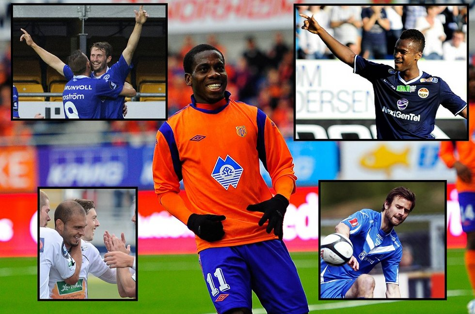 Dette er kandidatene til rundens mål denne gang. Magne Simonsen, Ola Kamara, Tremaine Stewart, Heiner Mora og Øyvidn Hoås.