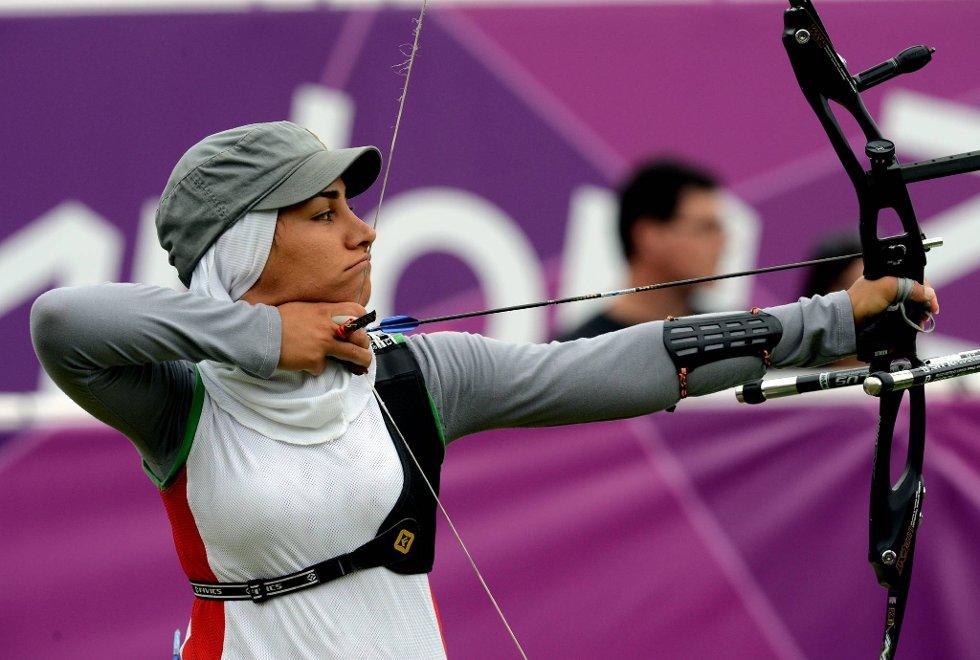 Zahra Dehghanabnavi fra Iran skjøt med hijab. (Foto: Vidar Ruud, ANB)
