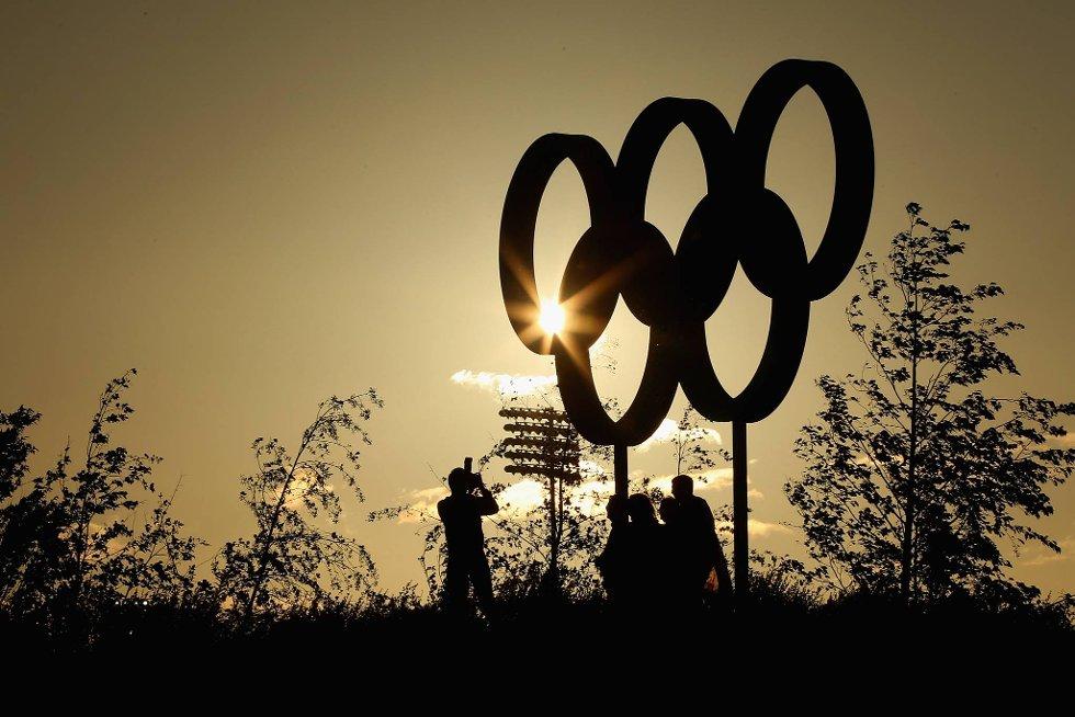 OL-ringene i vakker ramme. (Foto: Cameron Spencer, Getty Images/All Over Press/ANB)