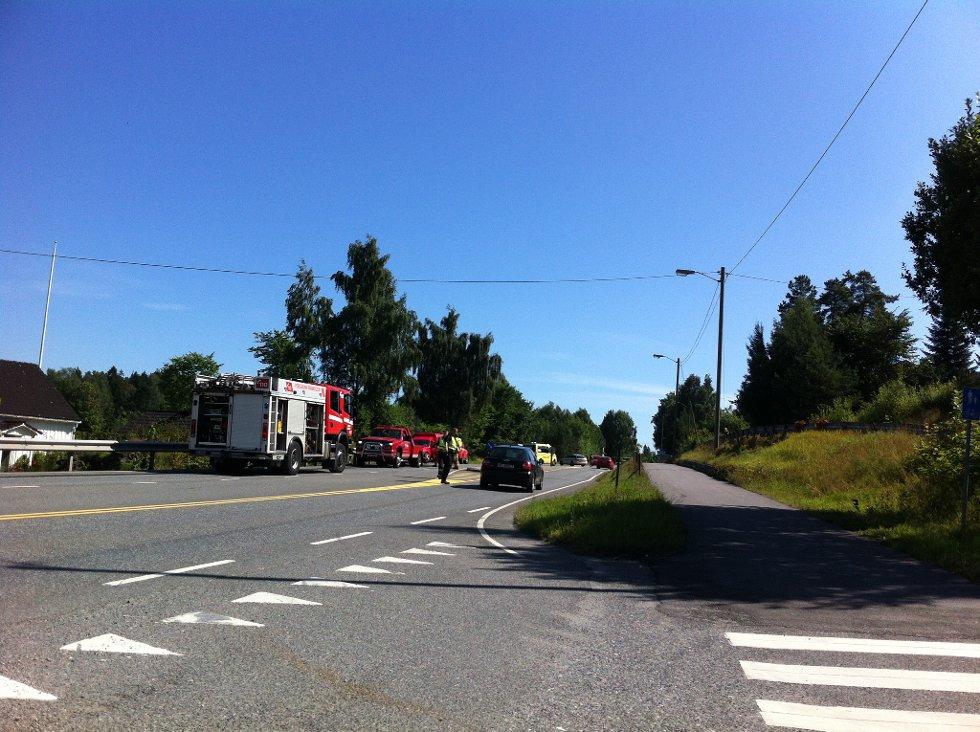 Ulykken skjedde ikke langt fra avkjøringen midt på Ørviksletta.