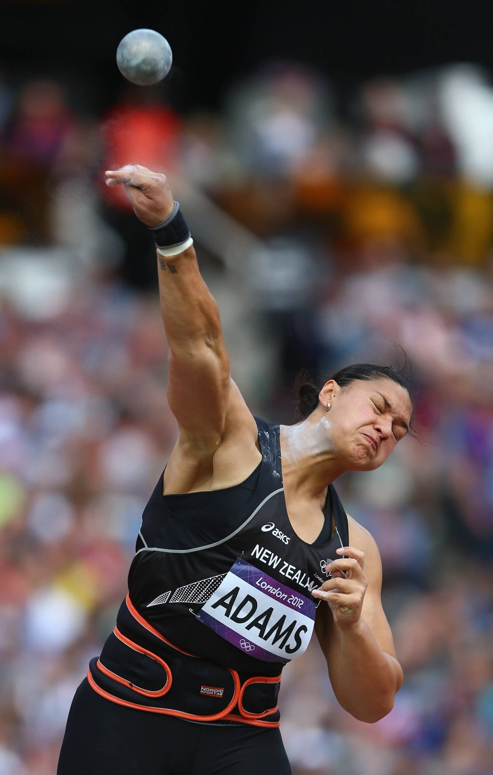 Valerie Adams fra New Zealand skal iallfall ha for innsatsen.  (Foto: Michael Steele, Getty Images/All Over Press/ANB)