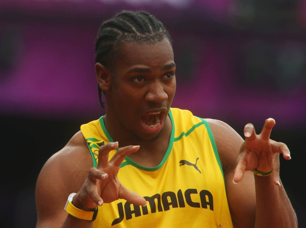 Tigeren er løs. Yohan Blake viser klørne etter 200 meter innledende runde. (Foto: Alexander Hassenstein, Getty Images/All Over Press/ANB)
