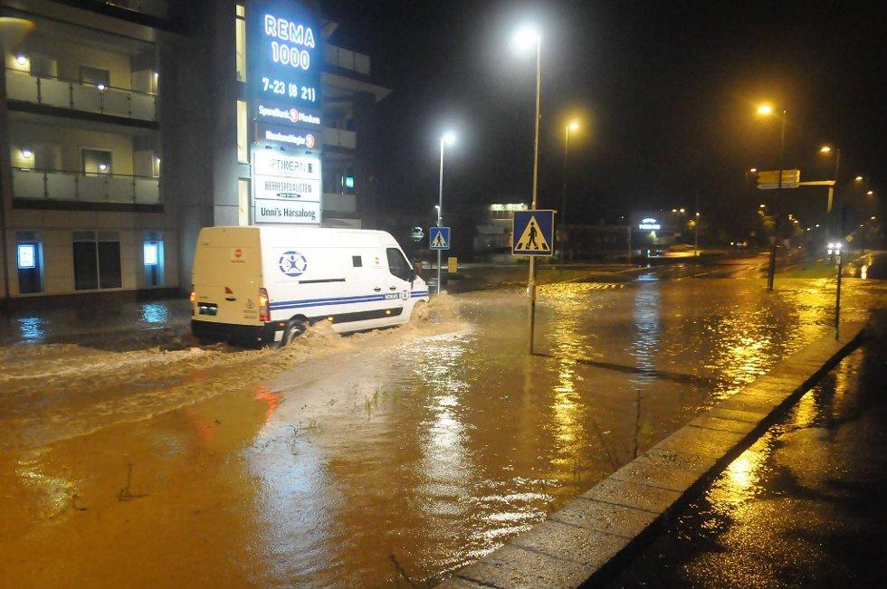 Slik så det ut ved Åmot i Buskerud natt til tirsdag.
