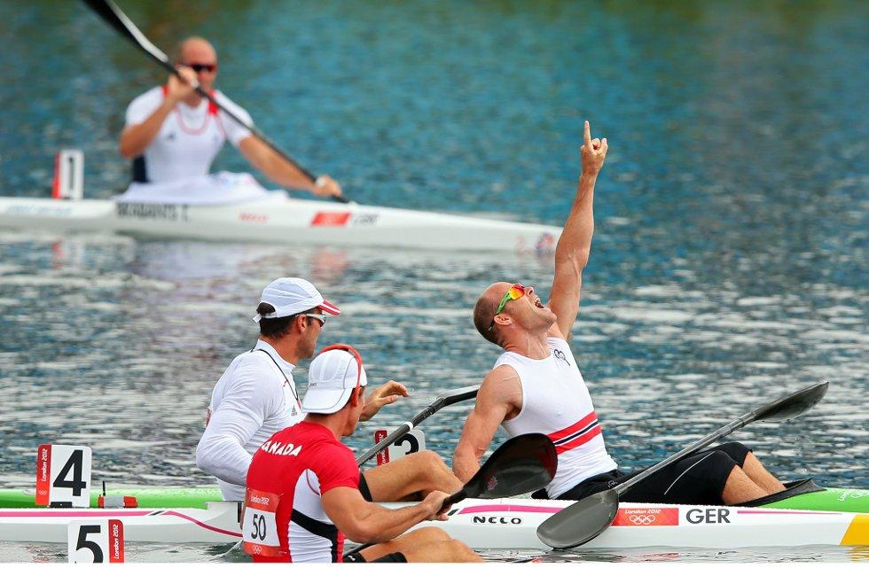 Eirik Verås Larsen sørget for Norges første OL-gull i London. (Foto: Cameron Spencer, Getty Images/All Over Press/ANB)