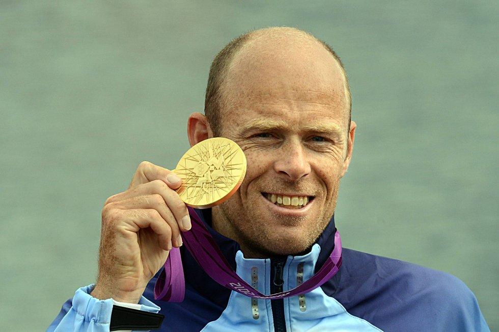 Eirik Verås Larsen satte et flott karrierepunktum da 36-åringen padlet inn til Norges første gull i London-OL på K1 1000 meter onsdag.  (Foto: Vidar Ruud, ANB)