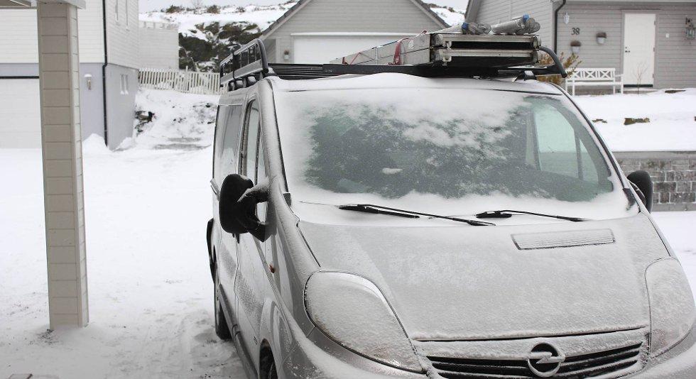 Denne bilen er stjålet fra Ulveseth på Sotra i løpet av natt til onsdag. Inni lå blant annet verktøy til rundt 50 000 kroner.