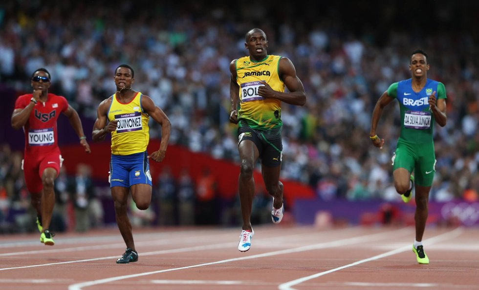 "Usain Bolt tar uttrykket ""fly som en pil"" bokstavelig.  (Foto: Streeter Lecka, Getty Images/All Over Press/ANB)"