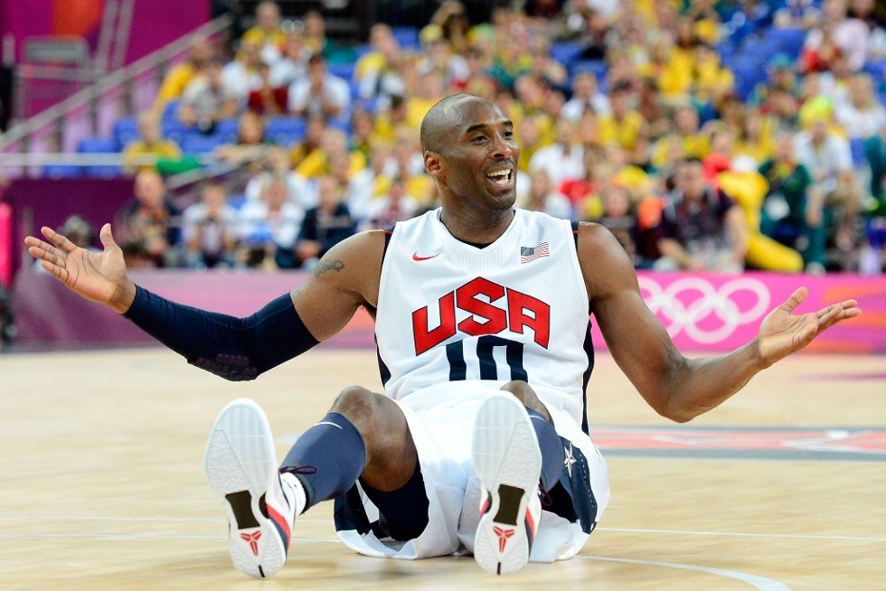 Kobe Bryant i uvant positur - men Dream Team har vært alt annet enn rådeløse så langt i OL-turneringen. (Foto: Ronald Martinez, Getty Images/All Over Press/ANB)