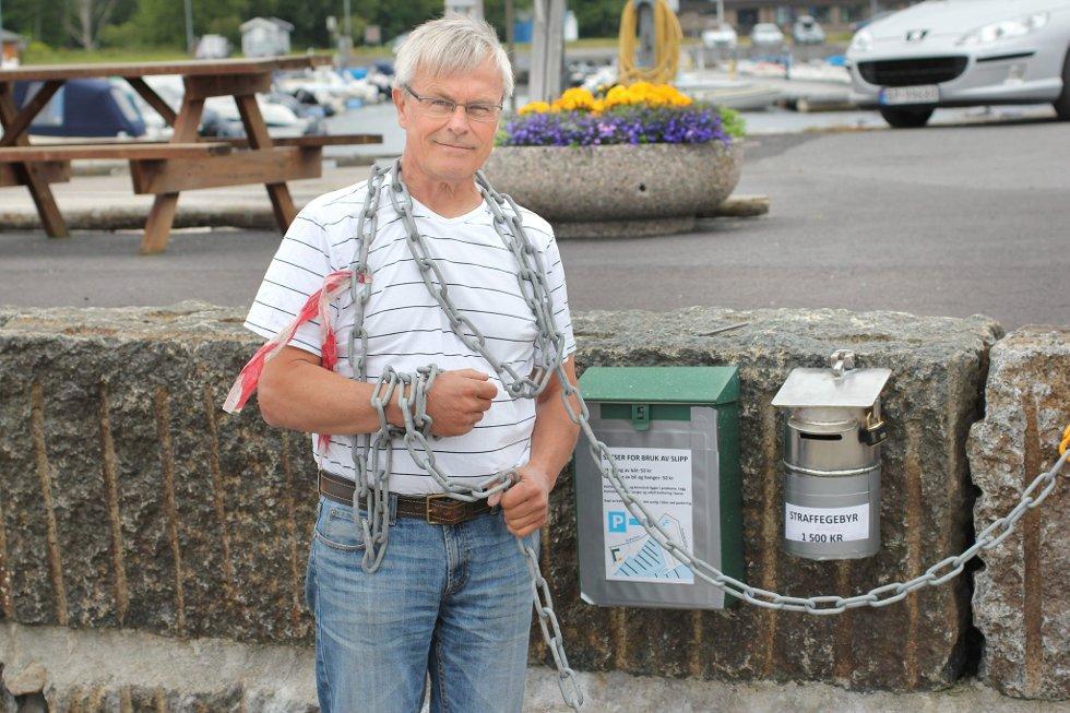 Angrer ikke: Gunnar Knutsen trakk seg som styreleder i Stavern båtforening blant annet på grunn av «mediestorm». Stavernspatriot Yngve Rakke har vært blant de mest kritiske til foreningens ledelse. (Arkivfoto)