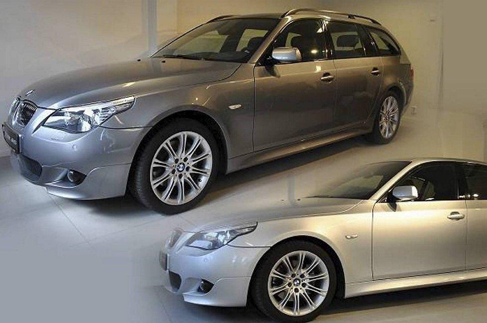 Disse to bilene ble stjålet fra SPZ bil på Askøy. Politiet tror tyveriet har skjedd mellom klokken 1800 onsdag kveld, og 1000 torsdag morgen. Begge bilene er av typen BMW 5-serie.