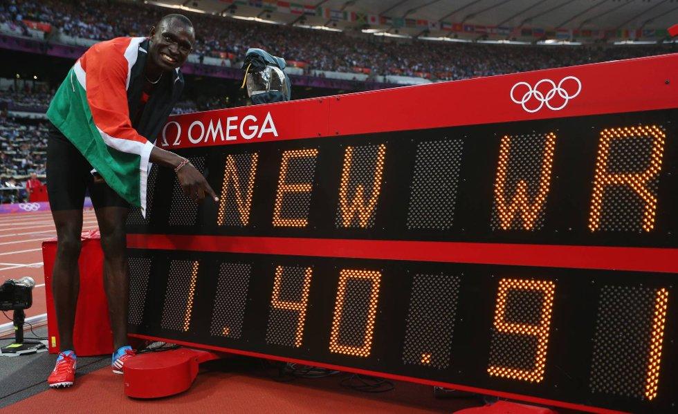 Vebjørn Rodals olympiske rekord på 800 meter fra 1996 ble gruset av den suverene David Lekuta Rudisha. Kenyaneren satte like godt ny verdensrekord, og ble førstemann under 101 sekunder. Kan han bikke drømmegrensen på 100 sekunder? (Foto: Alexander Hassenstein, Getty Images/All Over Press/ANB)