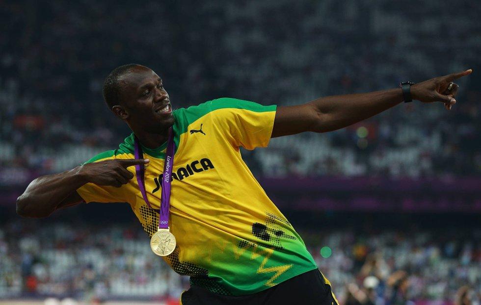 Verdens raskeste mann flyr som pilen også på 200 meter. (Foto: Cameron Spencer, Getty Images/All Over Press/ANB)
