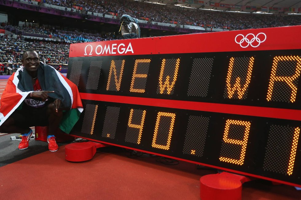 Olympisk gull på ny verdensrekord - bedre kan det ikke bli, David Rudisha! (Foto: Alexander Hassenstein, Getty Images/All Over Press/ANB)
