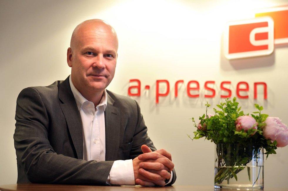 For meg har det vært avgjørende å etablere en ledergruppe med fotfeste i begge miljøer, sier konsernsjef  Thor Gjermund Eriksen i A-pressen.