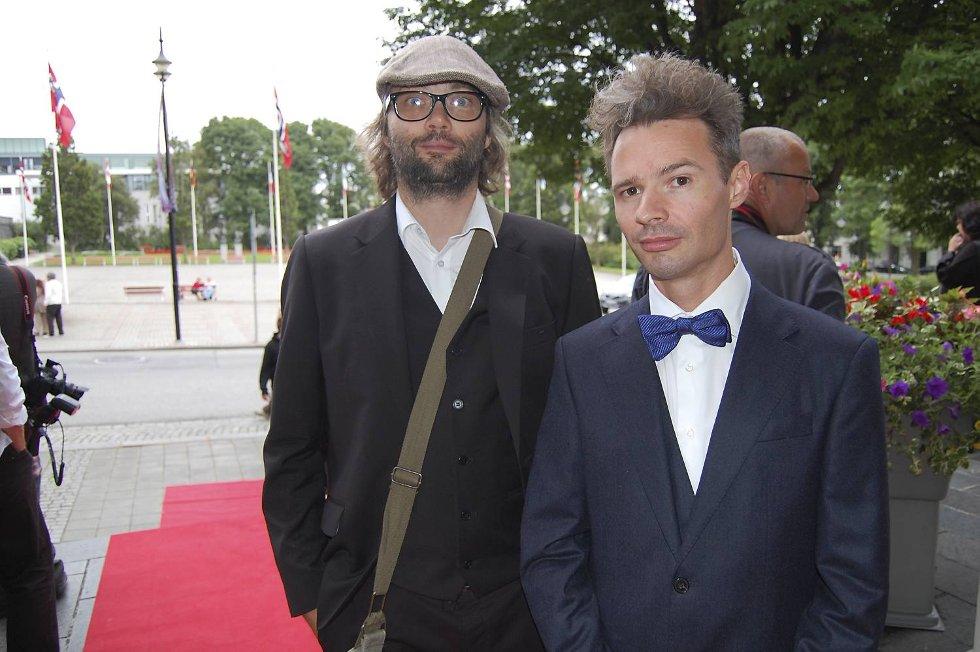 Amandaprisnominert bergenser Gisle Martens Meyer måtte gå tomhendt hjem. Her sammen med regissør av Pushwagner-filmen, Even Benestad.