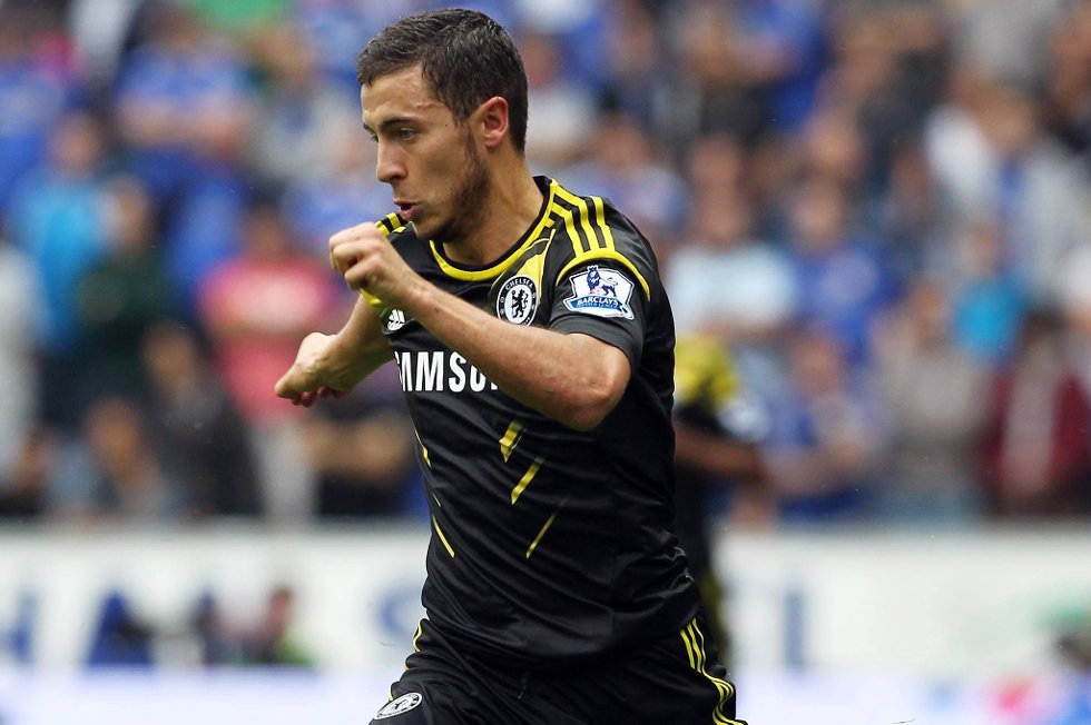 Eden Hazard viste seg fram i sin Premier League-debut.
