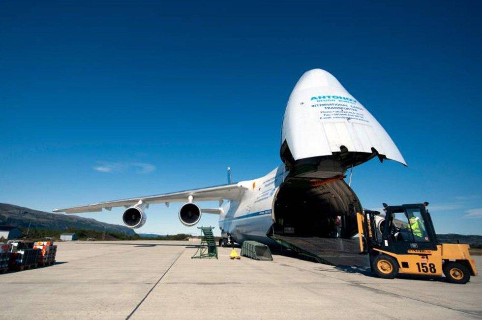 Gigantflyet som landet på Banak mandag.