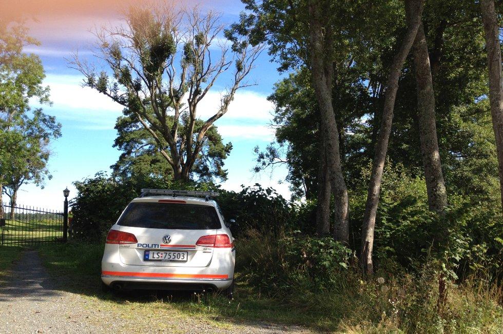 Fra ulykkesstedet i Støperiveien på Holmejordet i Larvik
