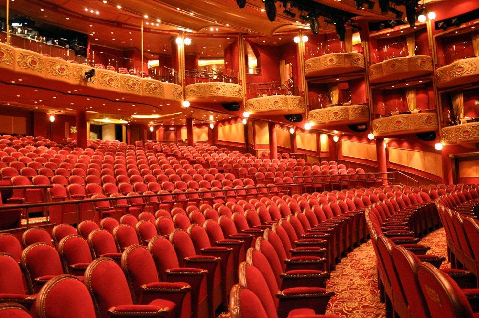 """EGET TEATER: """"Queen Victoria"""" har et eget teater, og selvsagt egen teatertrupp. (Foto: Randi Elvebakken)"""