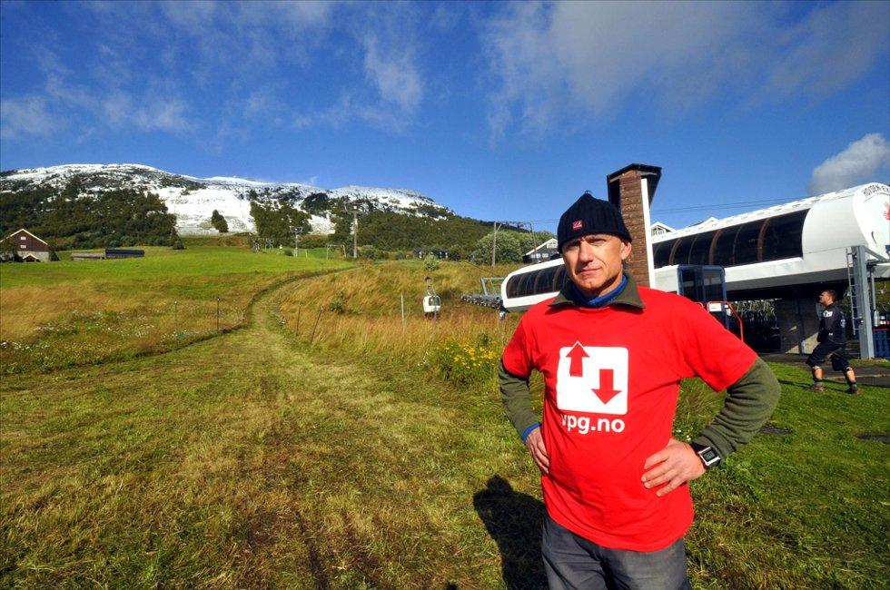 Rittleder Jan Helge Taftø syns det er trist at de måtte avlyse Norgescuprittet etter snøfall i fjellet.