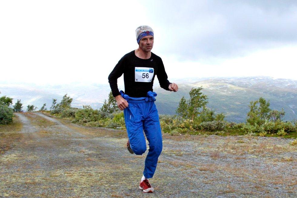 Kjetil Dyvik frå Voss var førstemann over mållinja på Heirsnosi i dag.