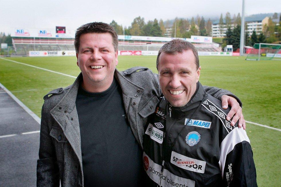 TILBAKE PÅ GJEMSELUND: Rune Lundgren er tilbake i KIL-familien og skal jobbe i administrasjonen. Her fotografert sammen med KIL-trener Tom Nordlie.
