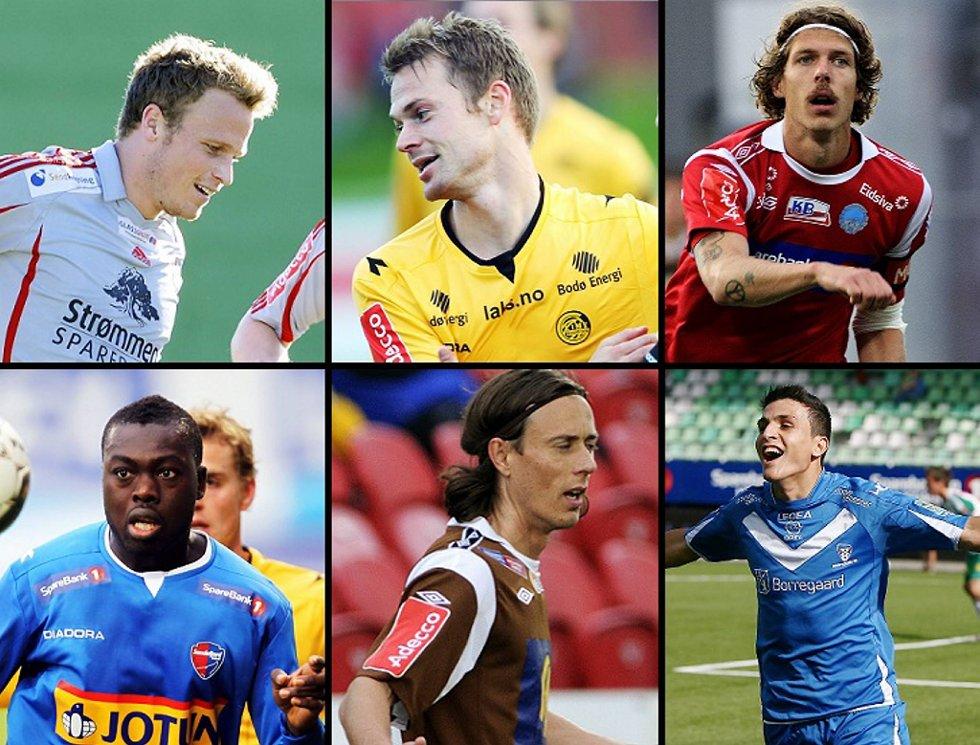 Simen Stamsø Møller, Magnus Sylling Olsen, Arnar Førsund, Dawda Leigh, Stian Ohr og Mohamed Elyounoussi håper alle på tre poeng i helga.