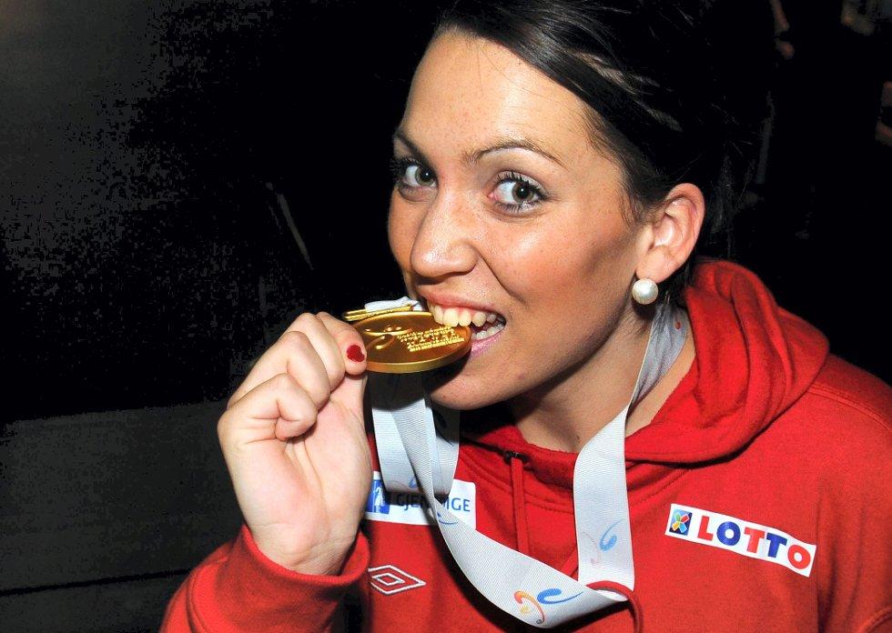 gull i junior-VM: Maja Jakobsen var med og tok gull i junior-VM i 2010. Nå er hun tatt ut til den norske troppen til EM i Serbia.
