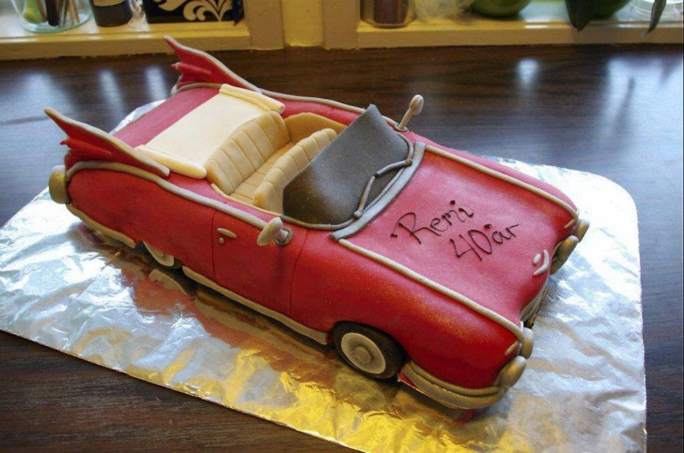 Denne kaken, en Cadillac 59, er Mørkved mest fornøyd med, og brukte to dager bare på planlegging.