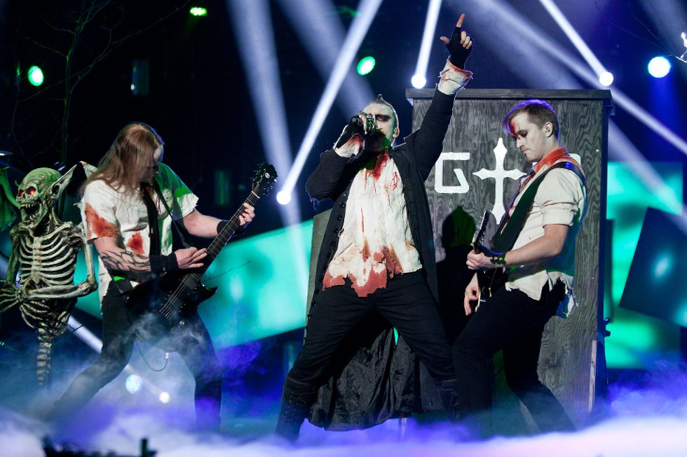 Gothminister i showet i Arena lørdag (Foto: Peder Torp Mathisen)