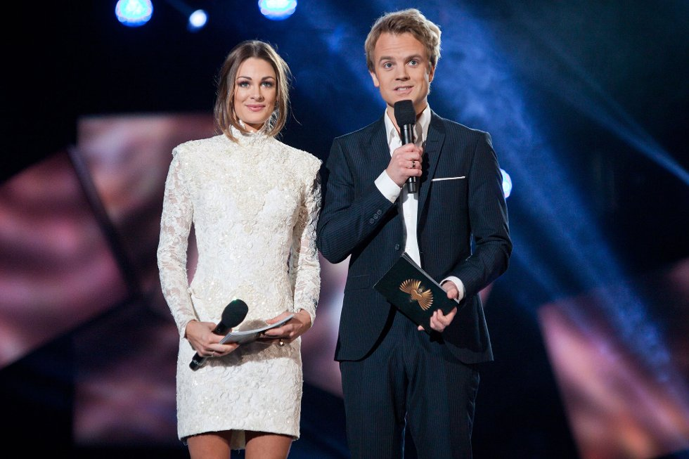 Jenny Skavlan og Erik Solbakken i Arena Larvik (Foto: Peder Torp Mathisen)