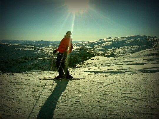 Fra Eikedalen i strålende solskinn!  (Foto: Chris Lund)