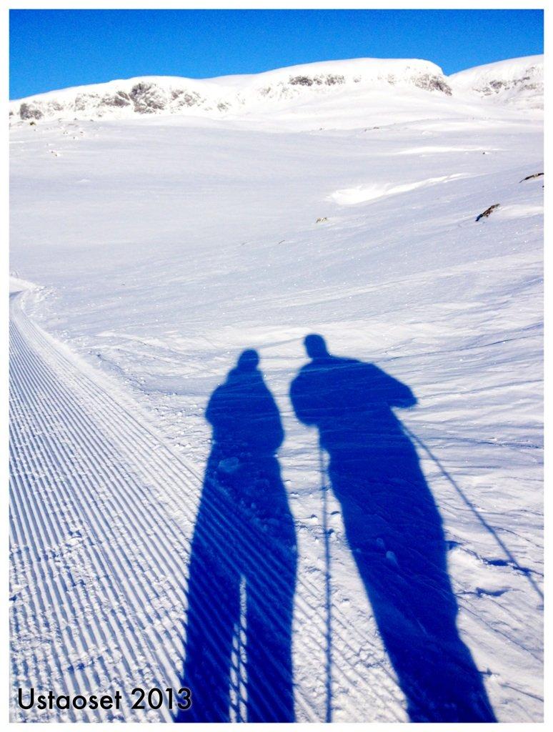 """Sammen i vinterlandskap"". (Foto: Sissel Hindenes)"