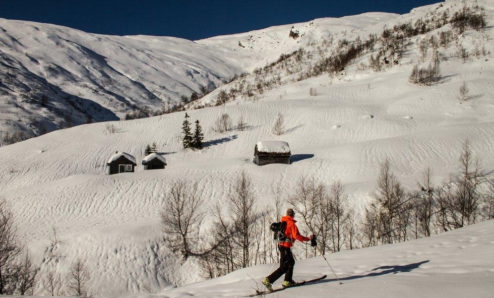Dette er fra Mæland-stølen i fjellet ovenfor Bolstad (Øvstedalen). Tatt søndag 25. februar. (Foto: Jan Petter Svendal)