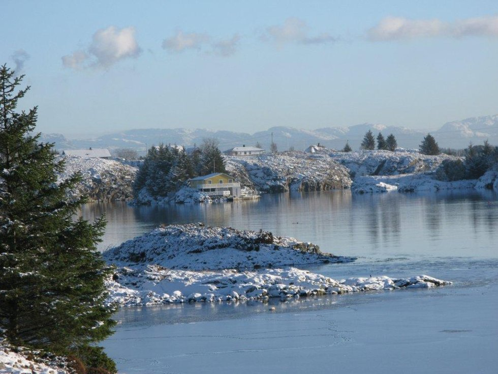 Vinterdvale i øyane / Austrheim kom. (Foto: Marit Øksnes)