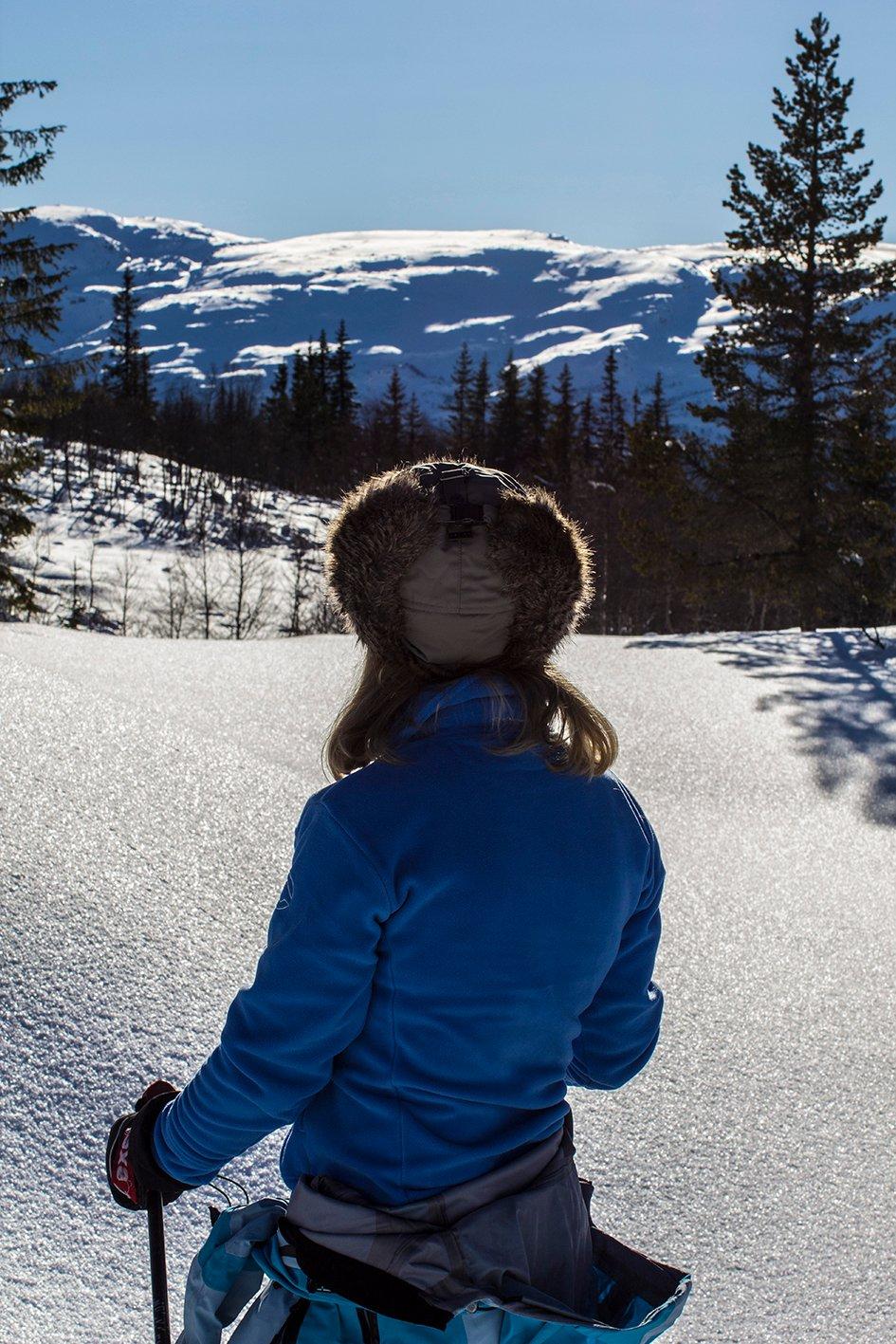 Vinterferiebilde fra Voss Resort_utsikt mot Gråsida. (Foto: Jan Einar Thorsen)