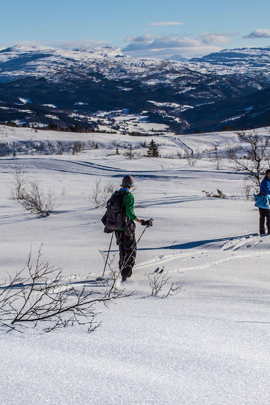 Vinterferiebilde fra Voss Resort Hanguren - utsikt mot Gråsida, 24. feb. (Foto: Jan Einar Thorsen)