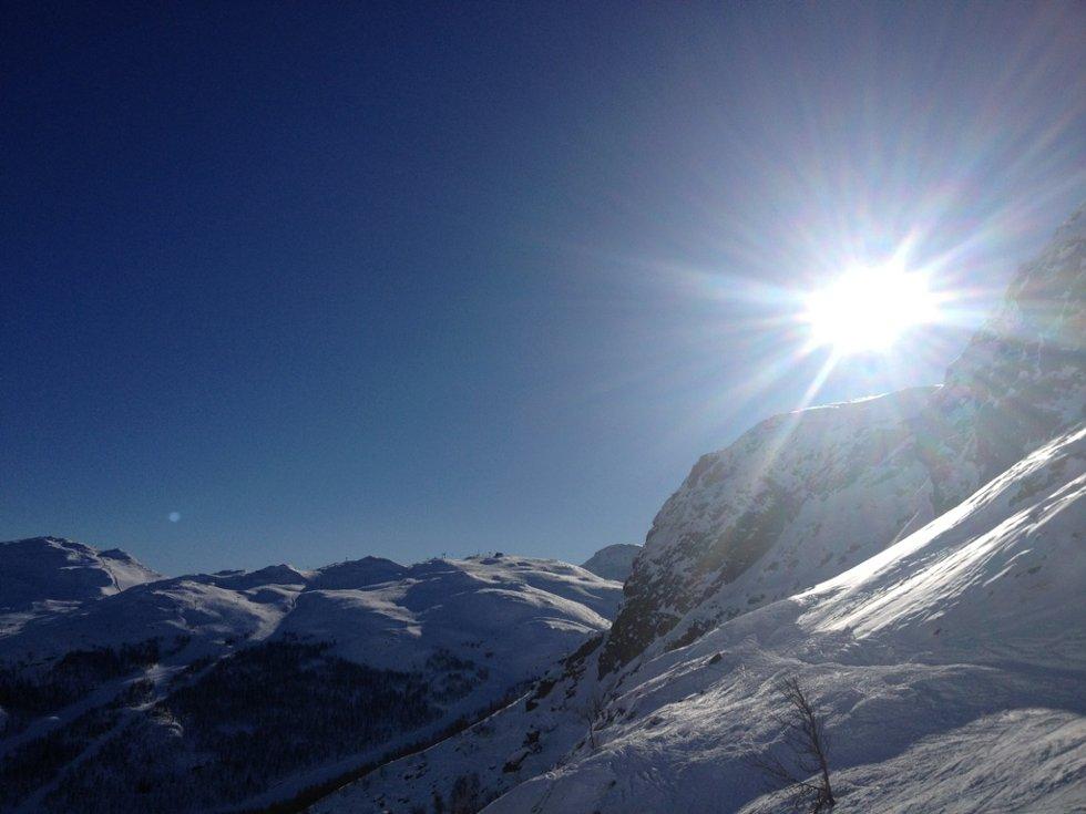 Fantastisk dag i Hemsedal vinterferien 2013. (Foto: Frank Tore de vries Steffensen)