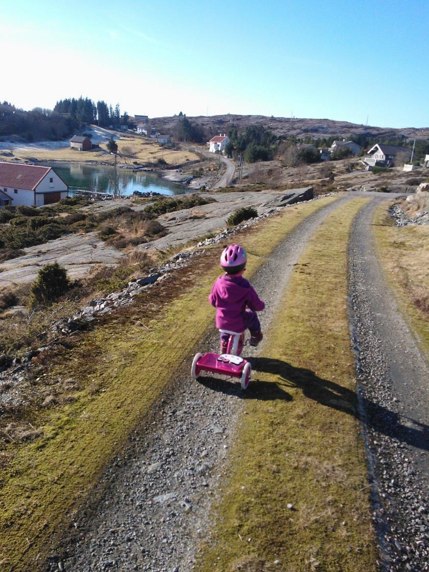 Vinterferie hos farmor og farfar på sotra. (Foto: Leserbilde)