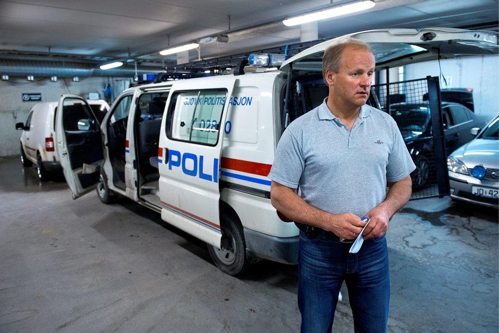 PÅ HÆLA: - Oppstår det en akutt situasjon er vi helt på hæla, påpeker leder av Politiets Fellesforbund i Vestoppland Politidistrikt Finn Arne Hvalbye.