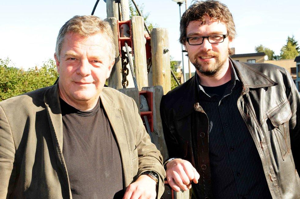 Rørosordfører Hans Vintervold og tynsetordfører Bersvend Salbu.