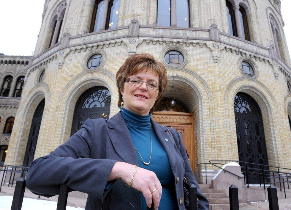 SKEPTISK: Heidi Greni i Senterpartiet er kritisk til at kommunalministeren vil overstyre lokaldemokratiet for å få igjennom eventueller kommunesammenslåinger.