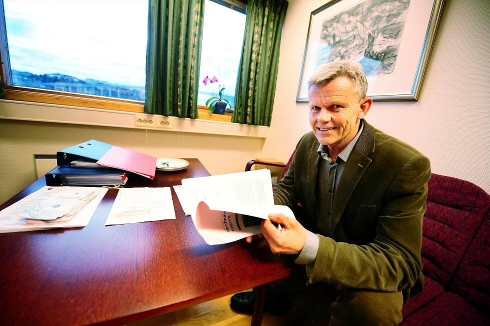 2013 var et hektisk år for sorenskriver Ivar Svendsgaard og Nordmøre tingrett. Foto: Trygve Strand Joakimsen