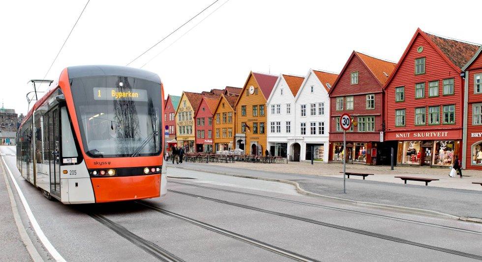Slik blir det ikke når Bybanen går mot Åsane. Ap, Frp og Høyre har skrevet en avtale seg mellom.