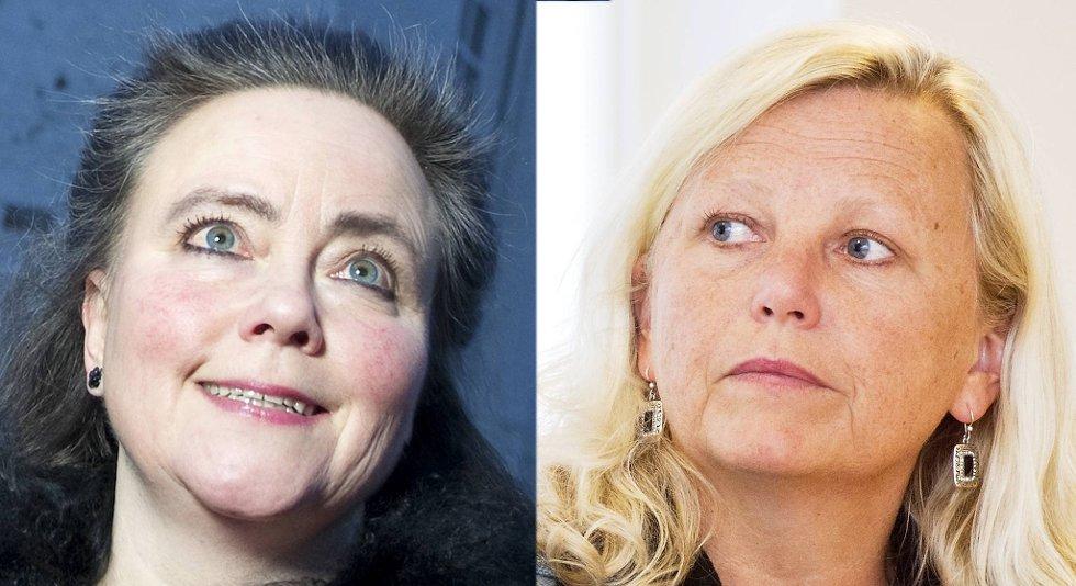 Lisbeth Iversen (KrF) og fylkeskultursjef Anna Tryti (t.v) har begge blitt omtalt som «Bybanens mor». Nå er begge bekymret da flertallet i bystyret vedtok at Bybanen skal gå over Torget med tunnelinnslag ved Kjøttbasaren.
